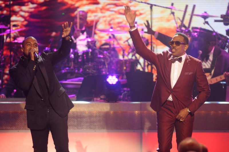 Rapper Kanye West and Charlie Wilson